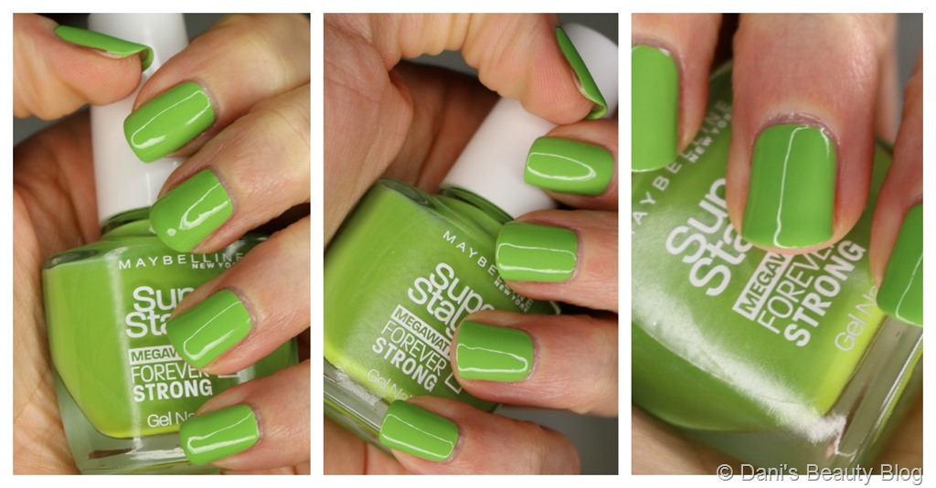NOTD vom 26.10.2014 - Maybelline - Super Stay 7 Days - 660 Lime me up